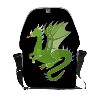 Adorable Green Dragon Commuter Bag