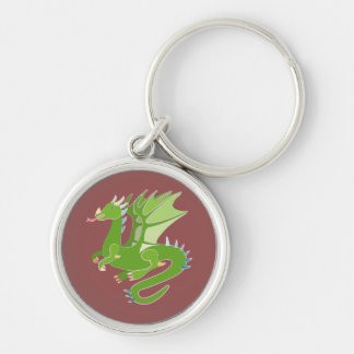 Adorable Green Dragon Keychain