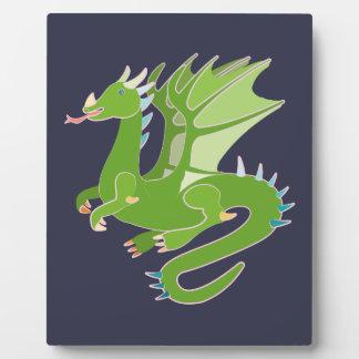 Adorable Green Dragon Plaque