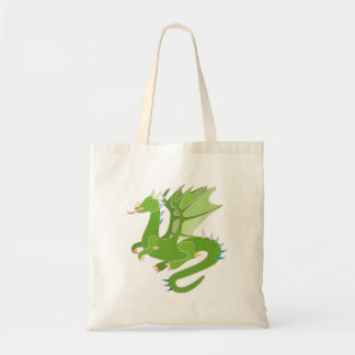 Adorable Green Dragon Tote Bag