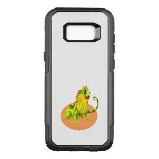 Adorable green happy nature iguana lizard OtterBox commuter samsung galaxy s8+ case