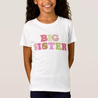 Adorable Green & Pink Big Sister Shirt