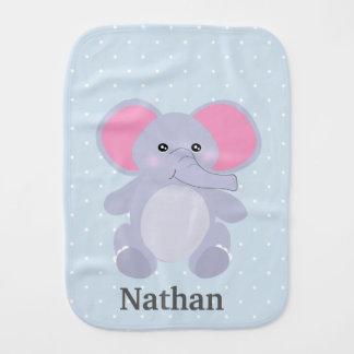 Adorable Grey baby Elephant for newborn baby Boy Burp Cloth