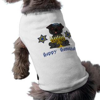 Adorable Hanukkah Pug Tees Doggie T Shirt