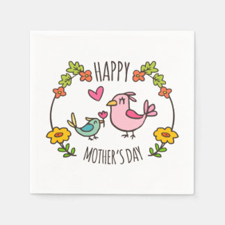 Adorable Happy Mother's Day | Napkin Disposable Napkin
