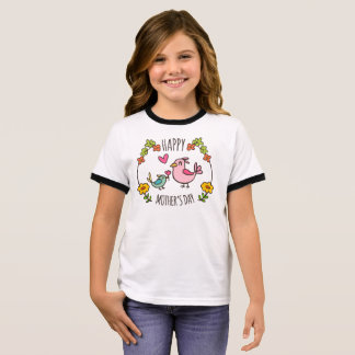 Adorable Happy Mother's Day | Ringer Shirt