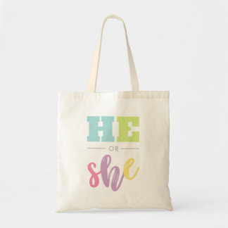 Adorable He or She - Gender Reveal Tote Bag