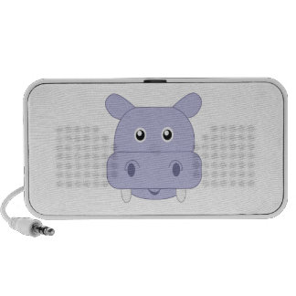 Adorable Hippo Boy Little Zoo PC Speakers