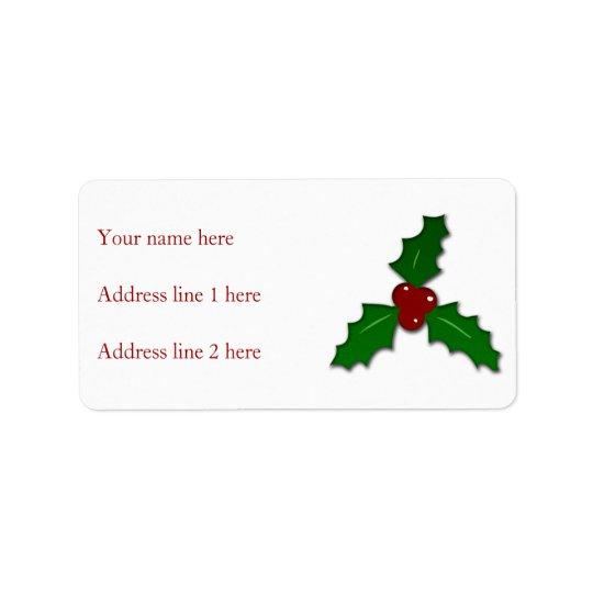 Adorable Holy twig Christmas Label