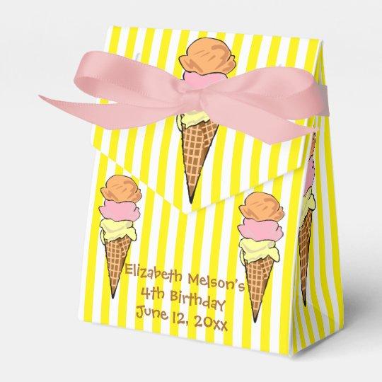 Adorable Ice Cream Custom Wedding Favor Boxes