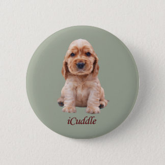 Adorable iCuddle Cocker Spaniel 2 Inch Round Button