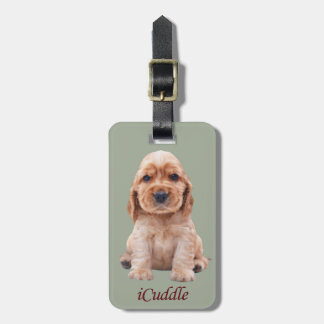 Adorable iCuddle Cocker Spaniel Luggage Tag