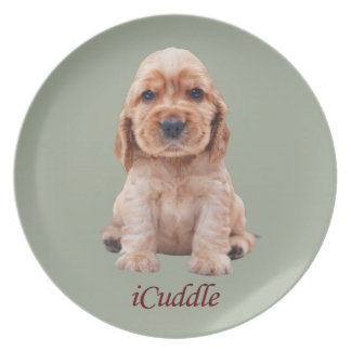 Adorable iCuddle Cocker Spaniel Plate
