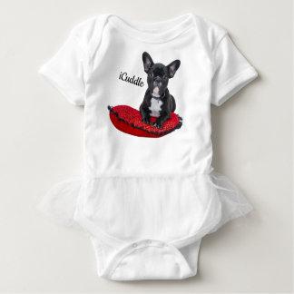 Adorable iCuddle French Bulldog Baby Bodysuit