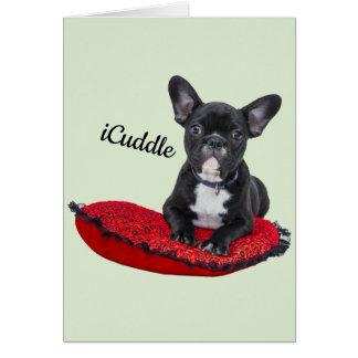 Adorable iCuddle French Bulldog Card