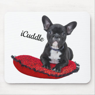 Adorable iCuddle French Bulldog Mouse Pad