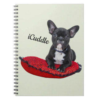 Adorable iCuddle French Bulldog Notebook