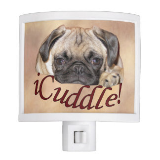 Adorable iCuddle Pug Puppy Nite Light