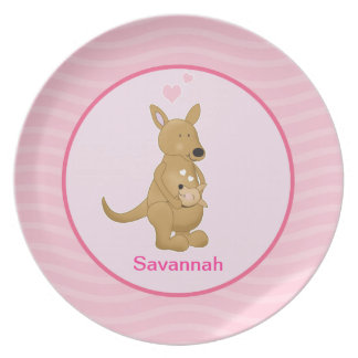 Adorable Kangaroo Customizable Plate