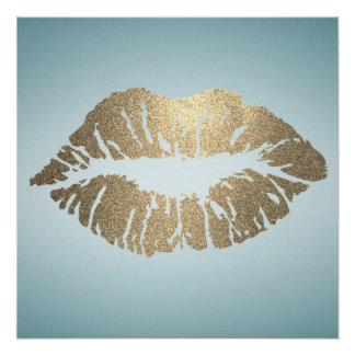 Adorable Kiss,Lips ,Makeup artist Poster