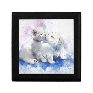 Adorable Kitten & Labrador Puppy Kiss Gift Box