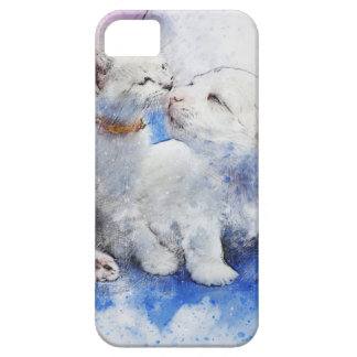 Adorable Kitten & Labrador Puppy Kiss iPhone 5 Case