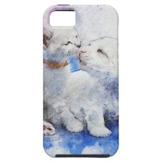Adorable Kitten & Labrador Puppy Kiss iPhone 5 Cover