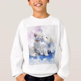 Adorable Kitten & Labrador Puppy Kiss Sweatshirt