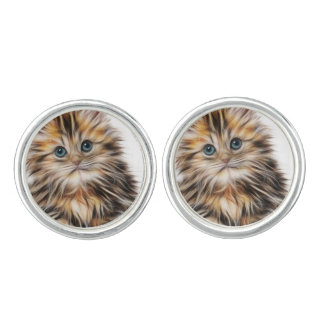 Adorable Kitten Painting Cuff Links