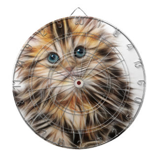 Adorable Kitten Painting Dartboard