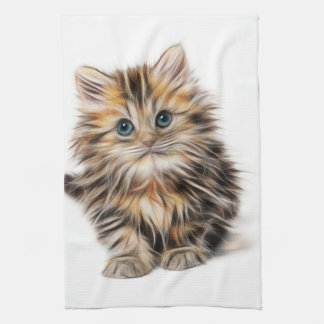 Adorable Kitten Painting Kitchen Towel