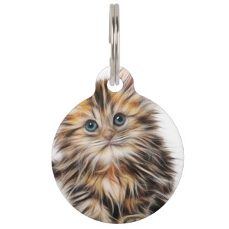 Adorable Kitten Painting Pet Name Tag