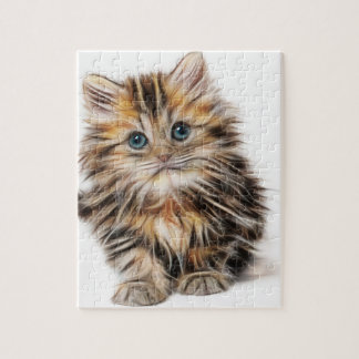 Adorable Kitten Painting Puzzle