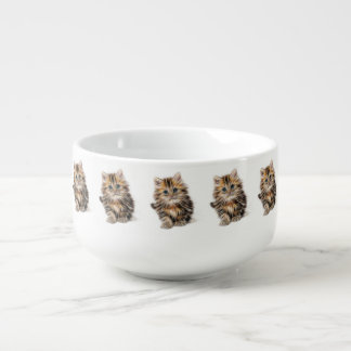Adorable Kitten Painting Soup Mug