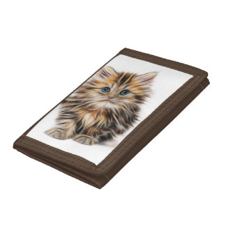 Adorable Kitten Painting Tri-fold Wallet