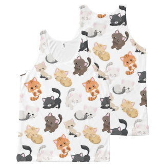 Adorable Kitty Cats Print All-Over-Print Tank Top