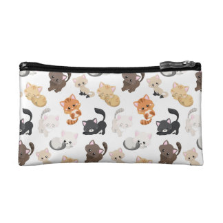 Adorable Kitty Cats Print Makeup Bag