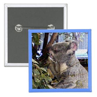 Adorable Koala 2 Inch Square Button