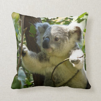Adorable Koala In Eucalyptus Tree Throw Cushion