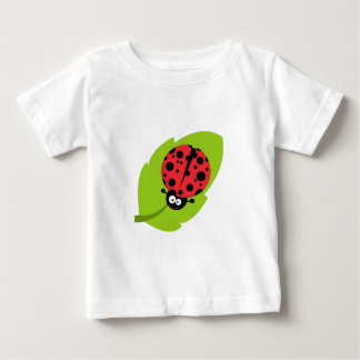 Adorable Ladybug on a Leaf Baby T-Shirt