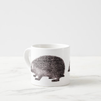 Adorable Little Hedgehog Hedgie from Antique Print Espresso Cup