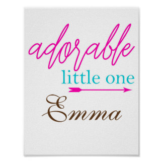Adorable Little One Baby Nursery Wall Art Print