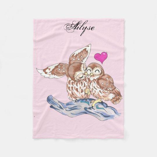 Adorable Love Owl Child's Blanket