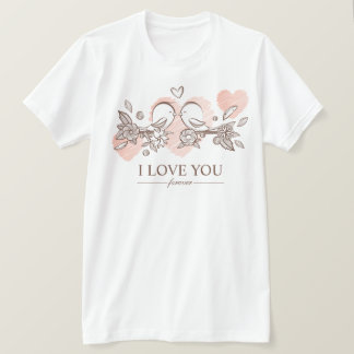 Adorable Lovebirds In Love Valentine | Shirt