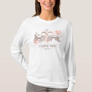 Adorable Lovebirds In Love Valentine Sleeve Shirt