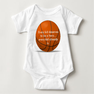Adorable, loving basketball romper