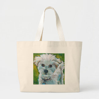 Adorable MALTIPOO Large Tote Bag