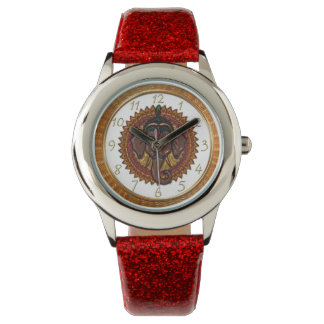 Adorable mandala elephant metallizer design 5 watch