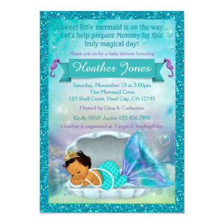 Adorable Mermaid Baby Shower Invitations #136 MED