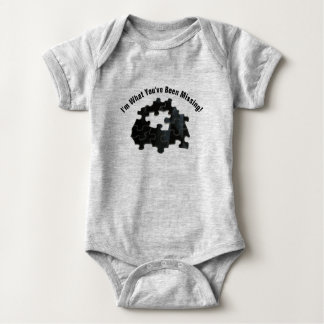 Adorable Message With Missing Puzzle Piece Photo Baby Bodysuit